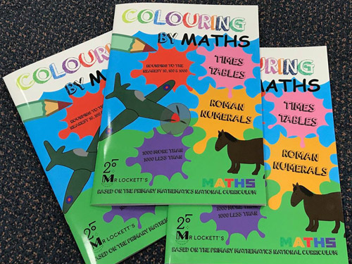 Colouring-by-Maths